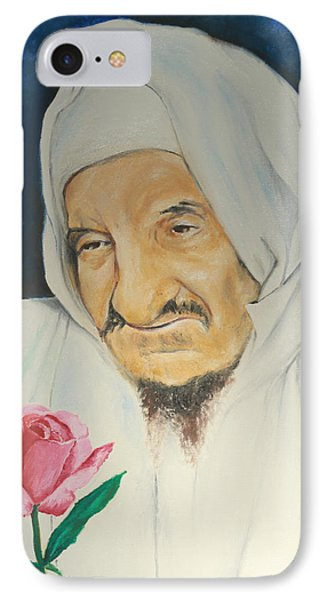 Baba Sali With Rose IPhone Case by Miriam Leah
