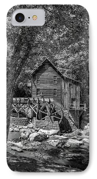 Babcock Grist Mill Bw IPhone Case