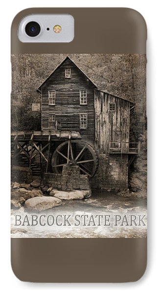 Babcock State Park Poster IPhone Case by Dan Sproul