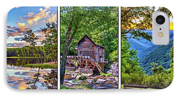 Babcock State Park Triptych 2 IPhone Case