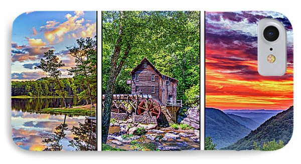 Babcock State Park Triptych 3 IPhone Case
