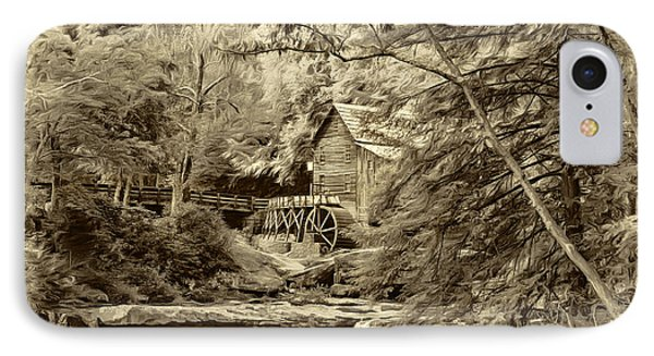 Babcock State Park Wv - Sepia IPhone Case