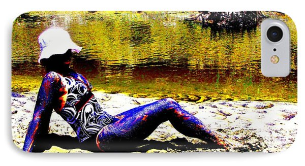 Babe In The Mud IPhone Case by Pamela Iris Harden
