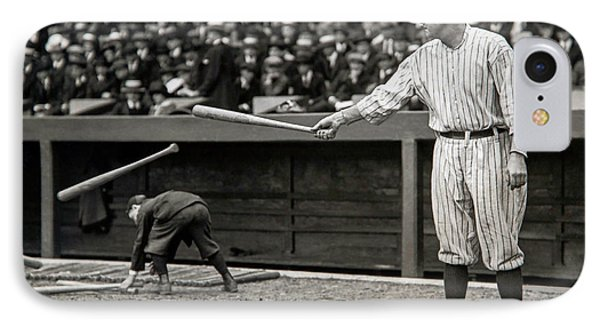 Babe Ruth At Bat IPhone 7 Case