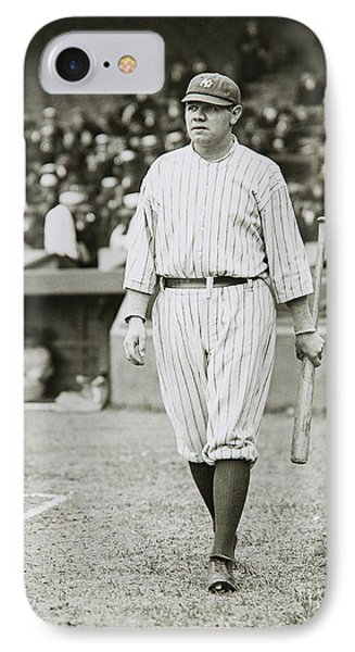 Babe Ruth Going To Bat IPhone Case