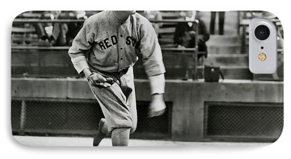 Babe Ruth - Pitcher Boston Red Sox  1915 IPhone Case by Daniel Hagerman