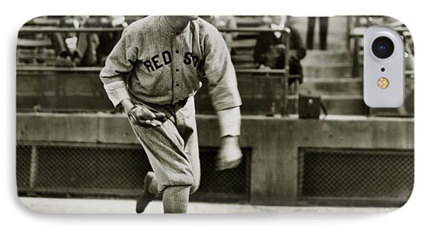 Babe Ruth Pitching IPhone Case