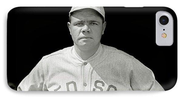 Babe Ruth Red Sox IPhone 7 Case by Jon Neidert