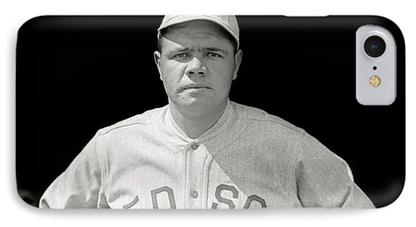 Babe Ruth Red Sox IPhone Case by Jon Neidert