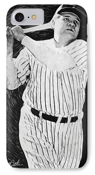 Babe Ruth IPhone Case by Taylan Apukovska