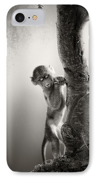 Baby Baboon IPhone Case by Johan Swanepoel