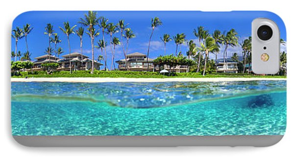 Baby Beach Above And Below IPhone Case by Sean Davey