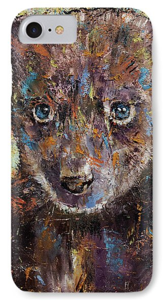 Baby Bear IPhone Case by Michael Creese