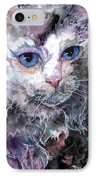 IPhone Case featuring the painting Baby Blues by Sherry Shipley