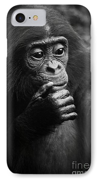 IPhone Case featuring the photograph Baby Bonobo by Helga Koehrer-Wagner