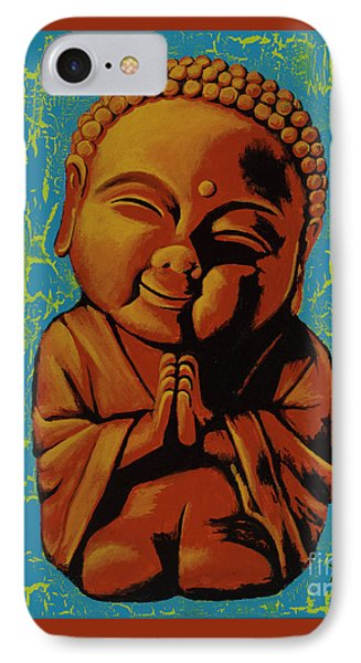 IPhone Case featuring the painting Baby Buddha by Ashley Price