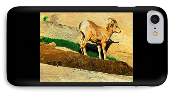 Baby Desert Bighorn In Abstract IPhone Case