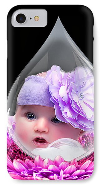 Baby Dewdrop IPhone Case by Trudy Wilkerson