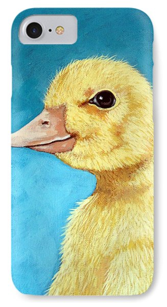 Baby Duck - Spring Duckling IPhone Case by Linda Apple