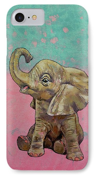 Elephant iPhone 7 Case - Baby Elephant by Michael Creese
