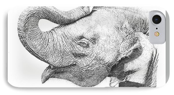 Baby Elephant IPhone Case by Remrov