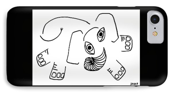 Baby Elephant IPhone Case by Sarah Loft