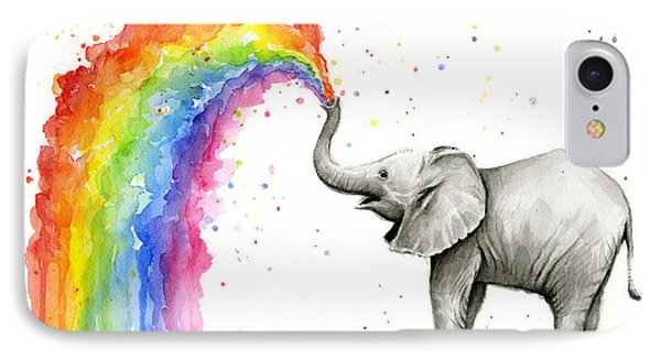 Baby Elephant Spraying Rainbow IPhone Case