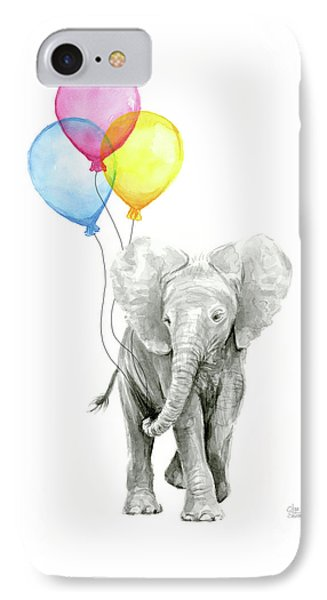 Baby Elephant With Baloons IPhone Case