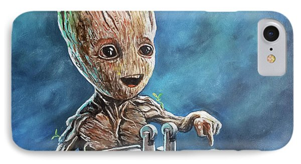 Baby Groot IPhone Case by Tom Carlton