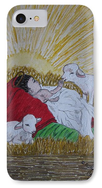 Baby Jesus At Birth IPhone Case