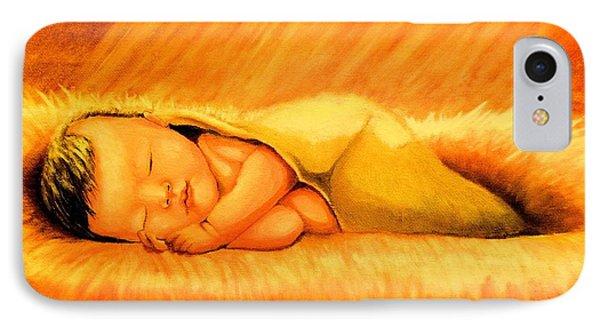 Baby Jesus Sleeping IPhone Case