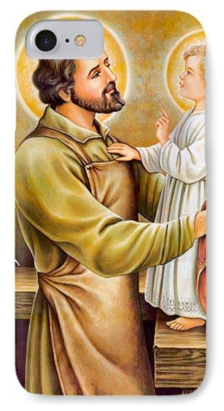 Baby Jesus Talking To Joseph IPhone Case by Munir Alawi