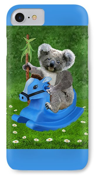 Baby Koala Buckaroo IPhone Case by Glenn Holbrook