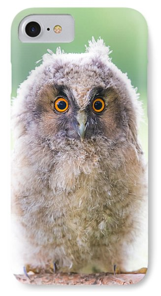 Baby Long-eared Owl Phone Case by Janne Mankinen