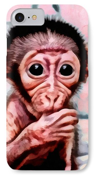 Baby Monkey Realistic IPhone Case