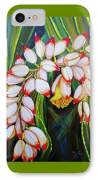 Baby Pink Shell Ginger IPhone Case by Debbie Chamberlin
