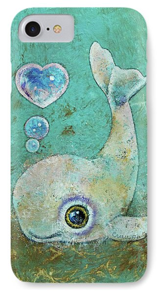 Baby Whale IPhone Case by Michael Creese