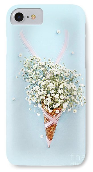 IPhone Case featuring the photograph Baby's Breath Ice Cream Cone by Stephanie Frey