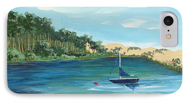 IPhone Case featuring the painting Back Bay From Back Bay Inn Los Osos Ca by Katherine Young-Beck