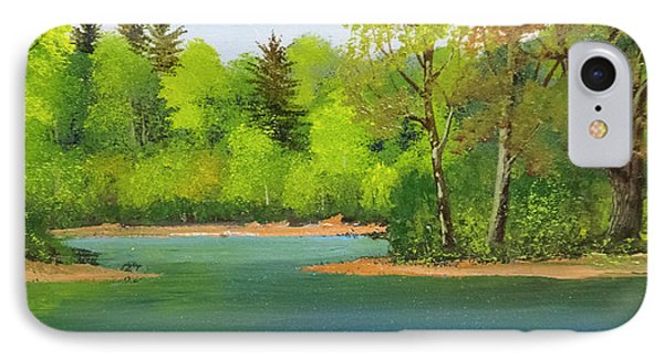 IPhone Case featuring the painting Back Country Pond by Frank Wilson