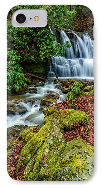 Back Fork Waterfall  IPhone Case by Thomas R Fletcher