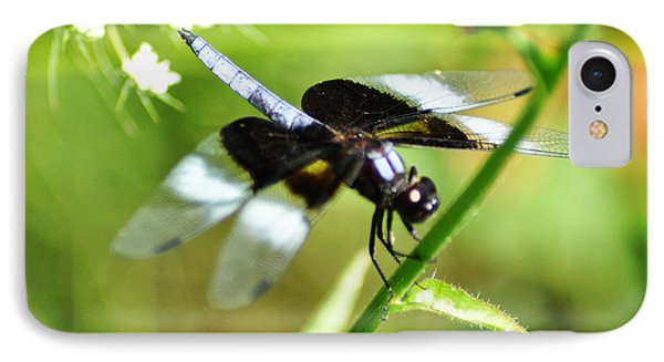 Back In Black - Black Dragonfly Phone Case by Bill Cannon
