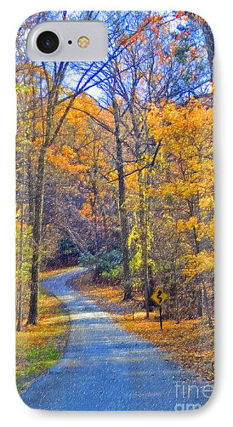 IPhone Case featuring the photograph Back Road Fall Foliage by David Zanzinger