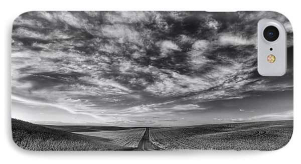 Back Road Solitude Black And White IPhone Case by Mark Kiver