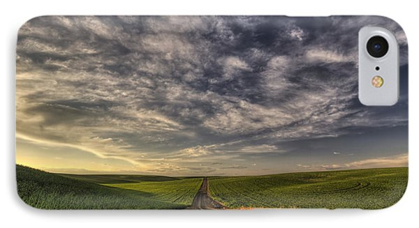 Back Road Solitude IPhone Case by Mark Kiver