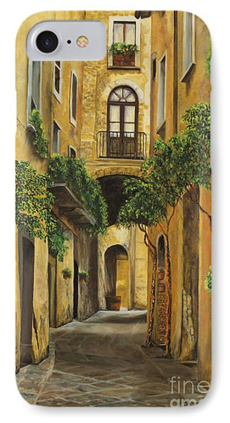 Back Street In Italy Phone Case by Charlotte Blanchard