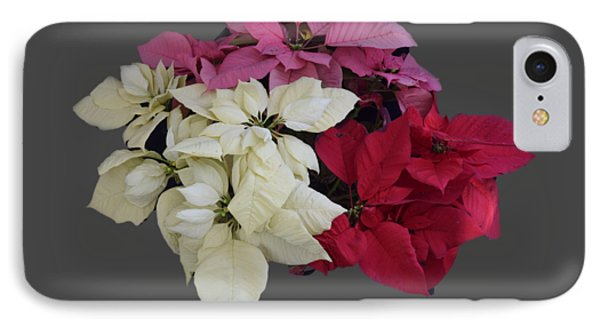 Background Choice-pointsettias IPhone Case by R  Allen Swezey