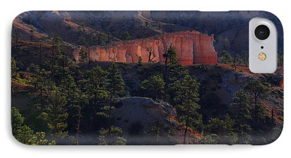IPhone Case featuring the photograph Backlit Hoodoos At Sunrise by Stephen  Vecchiotti