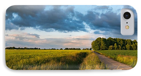 IPhone Case featuring the photograph Backroad Between The Fields by Dmytro Korol