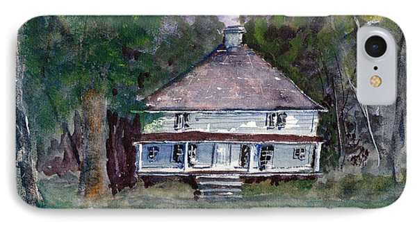 Backwoods Cottage - Watercolor Landscape IPhone Case by Barry Jones